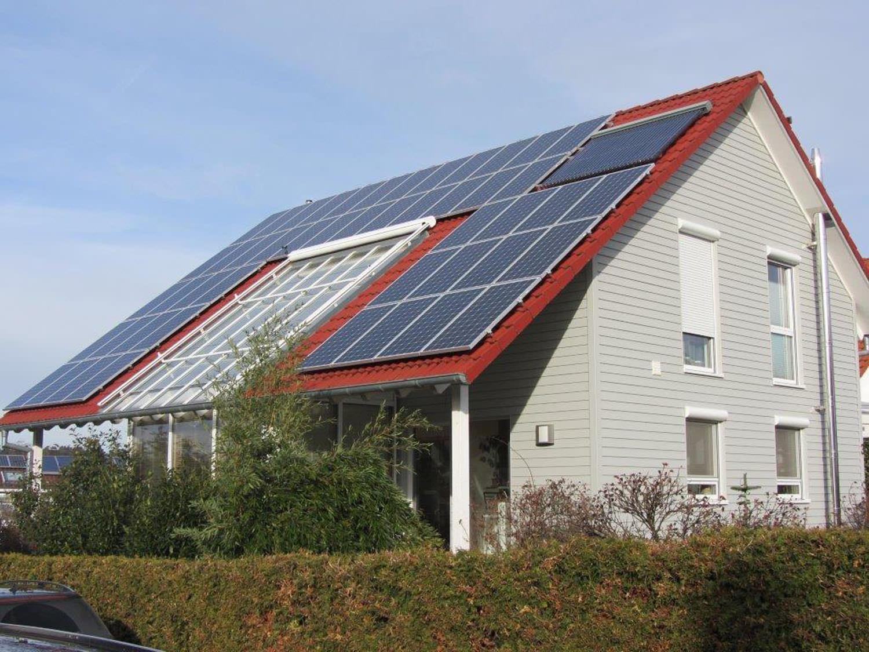Solaranlage in Weissach (2013), Wohnhaus