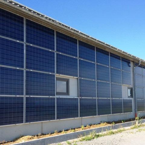 Solarfassade in Leonberg-Gebersheim (2014)