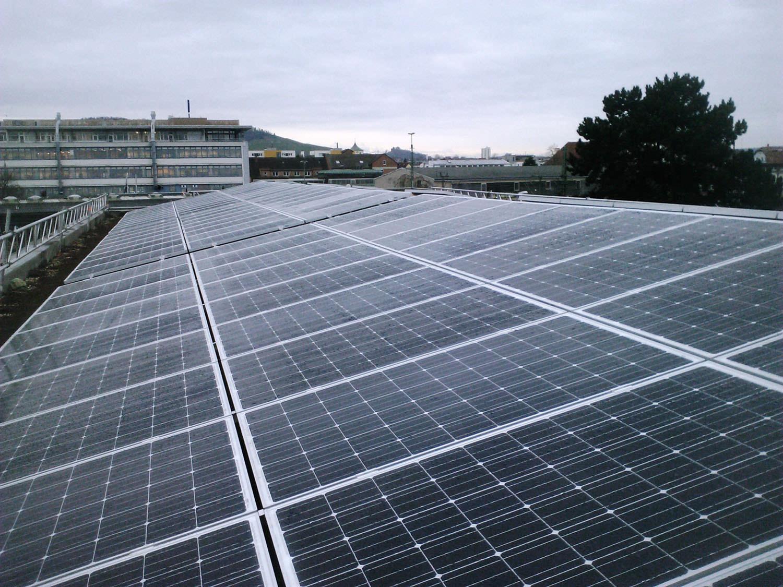 Photovoltaik-Projekt in Fellbach bei Stuttgart (2014)