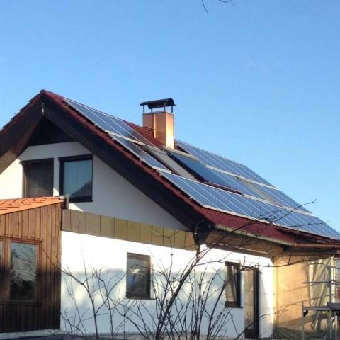 Photovoltaikanlage in Weissach (2011), Wohnhaus